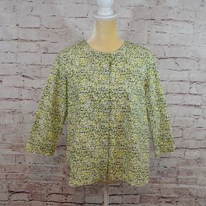 COS Yellow Abstract Blouse Top Shirt Size 4 NEW A8